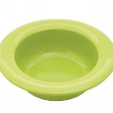 Wide Rim Bowl - White Green or Yellow