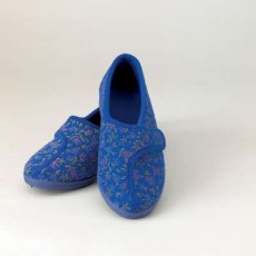 Slippers Patterned Ladies Navy